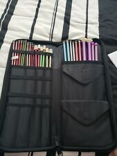 New ListingLot of 14 Pair Aluminum Knitting Needles Var Sz Susan Bates Hero Boye W/Zip Case