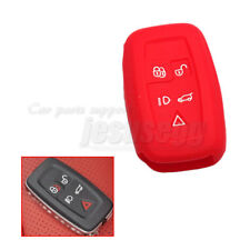 Red Silicone Remote Key Cover FOB Case For Land Rover/Discovery 4/Range Rover