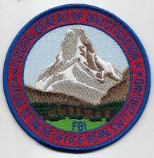 Scenic FBI Attache Bern Switzerland Police Sheriff Swiss Alps patch