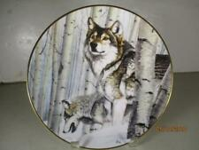 Year of the Wolf Collector Plate Broken Silence Al Agnew