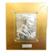 Quadro da parete con madonna opera realizzata a mano su foglia oro e argento