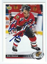 Dirk Graham Signed 1992/93 Upper Deck Card #272