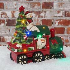 Musical LED Ceramic Santa Train Christmas Decoration