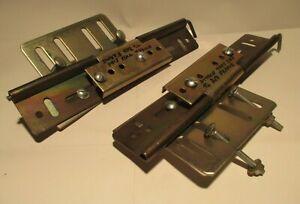 Bed Frame Swing Hinge Set - Heavy Duty Bedding / Headboard Swing Kit - Vintage