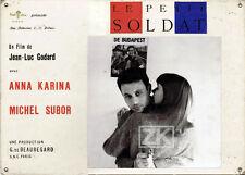 LE PETIT SOLDAT Subor KARINA Budapest PEDRAZZINI J-L.GODARD Censure Photo 1960