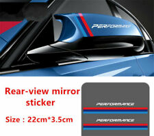 2Pcs Performance Decal Stickers For M Power Series Rearview Mirror Case White