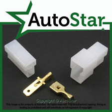 2 Way Pin Circuit 6.3mm Motorcycle Electrical Multi-Connector Plug & Socket T ty
