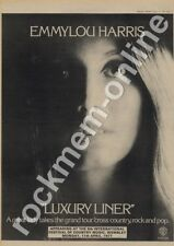 Emmylou Harris Luxury Liner K56334 Wembley 11th April LP show Advert 1977