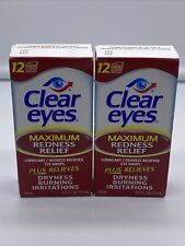 Clear Eyes Redness Relief Lubricant Redness Reliever Eye Drops 0.5 fl oz. 2 Pack