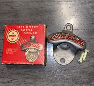 Vintage Coca Cola Starr X Stationary Bottle Opener With Box Unused VTG
