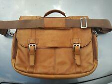 Kenneth Cole Reaction Leather Buckle Close Shoulder Messenger Bag Briefcase