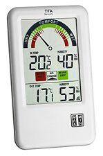 TFA Dostmann Original Funk-Thermo-Hygrometer Bel-Air übersichtliches Display NEU