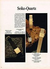 PUBLICITE ADVERTISING 064  1979  SEIKO-QUARTZ  collection montres