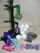 Childrens Pinflair Sequin Craft Kit Make Your Own Xmas Christmas Baubles Set 10