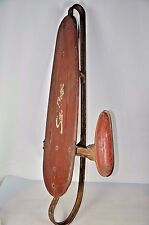 Vintage 1940s Snow Rocket All Metal Sled One center rail Retro Only one on Web