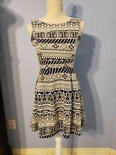 Monteau Womens Black and White Sleeveless Dress Size Medium