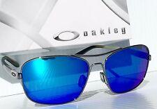 NEW* Oakley Sanctuary Gunmetal AVIATOR 58mm Squared Blue lens Sunglass oo4116 08