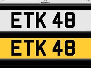 ETK 48 - ETK 48 - NICE SHORT REG PLATE-PX GOLD-WATCH-JEWELLERY-DIAMOND-MOTORBIKE