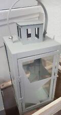 Laterne Windlicht Stern Landhaus Stil grau  Kerzenhalter  Gartenlaterne Metall