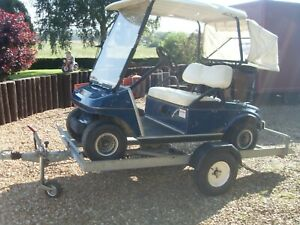 Club car Golf Buggy Electric with Trailer & battery charger