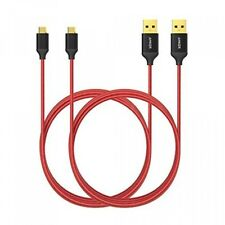 [2Pack] Anker 6ft / 1.8m Nylon Braided TangleFree Micro USB Cable with