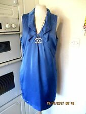 REISS BLUE VIVIANNE POCKETED TUNIC DRESS // 14 // GOOD CONDITION