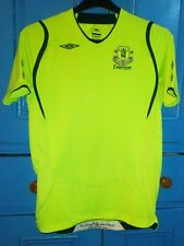 Retro EVERTON FC Shirt 3rd colours 2007/8 season by UMBRO bright yellow
