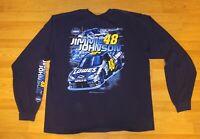 Jimmie Johnson 48 Nascar Lowe's Team Racing T-Shirt Chase Long Sleeve Size XXL