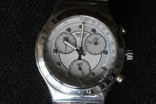 SWATCH IRONY AG 1996 MENS CHRONOGRAPH WATCH WITH STAINLESS STEEL STRAP A CLASSIC