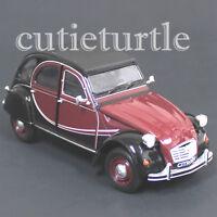 Welly Citroen 2CV 6 Charleston 1:24 Diecast Car 24009 2 Tone Burgundy Black