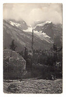 Mt Sir Donald Glacier - British Columbia Photo Postcard c1910 Canada