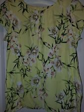Lovely Yellow Floral Top Wallis Size 14