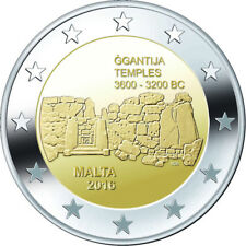 "2 Euro Gedenkmünze ""Ggantija Tempel"" Malta 2016, Stempelglanz"
