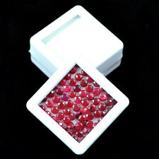 11.60 Cts/70 Pcs Sparkling Top Red Natural Ruby Wholesale Mozambique 3mm Round