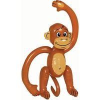 Inflatable Monkey Animal Chimp Ape Jungle Tropical Kids Party Decor Prop 58cm