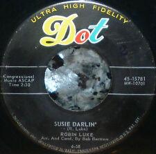 "*<* SALE! ROBIN LUKE #5 ROCKABILLY HIT ""SUSIE DARLIN"" M- GEM 45 w/COMPANY SLEEVE"