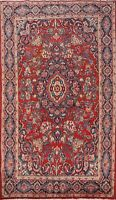Excellent Vintage Floral Ghazvin Hand-knotted Area Rug Traditional Oriental 4x6