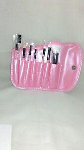 London Pride Make-Up Brush Set (7 Brushes and case) - Pink