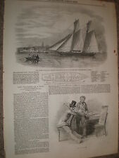 Grand Duke Constantine of russia yacht the Volna 1848 old print