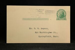 Vt: Brattleboro Aeroplane Mail Service Aviation Sta 1922 Postal Card ~ Crashed