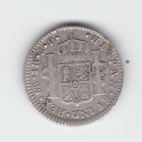 1805 Silver Spanish Carolus Charles 1111 1 Real  Coin Y-185