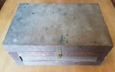 Antique Folk Art Box Made From Ammunition Crate Savage Arms Co. Utica Ny