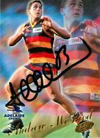 ✺Signed✺ 2000 ADELAIDE CROWS AFL Card ANDREW MCLEOD