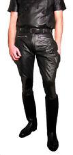 Lederhose schwarz Stiefelhose neu Breeches Lederuniform Motorradhose Leder