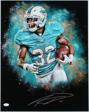 Kenyan Drake Signed Miami Dolphins Football 16x20 Photo Poster JSA COA Autograph