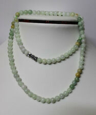 "100% Natural Untreated Grade <A> Multi-Color JADE Beads Necklace 21"" #N004****"