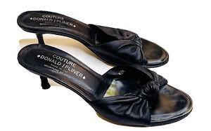 Donald J. Pliner Couture Womens Heels 7.5 Napa Black Leather