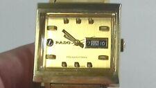 VINTAGE RADO GOLD TONE MANHATTAN DAY DATE MENS WATCH