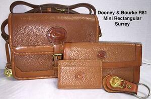 Vintage Dooney & Bourke~AWL~R81 Mini Surrey*Cross Body Purse & Accessories