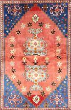 Semi-Antique Geometric Tribal 4x6 Abadeh Shiraz Persian Oriental Area Rug Wool